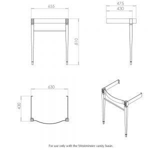 Adare Westminster basin stand tech specs