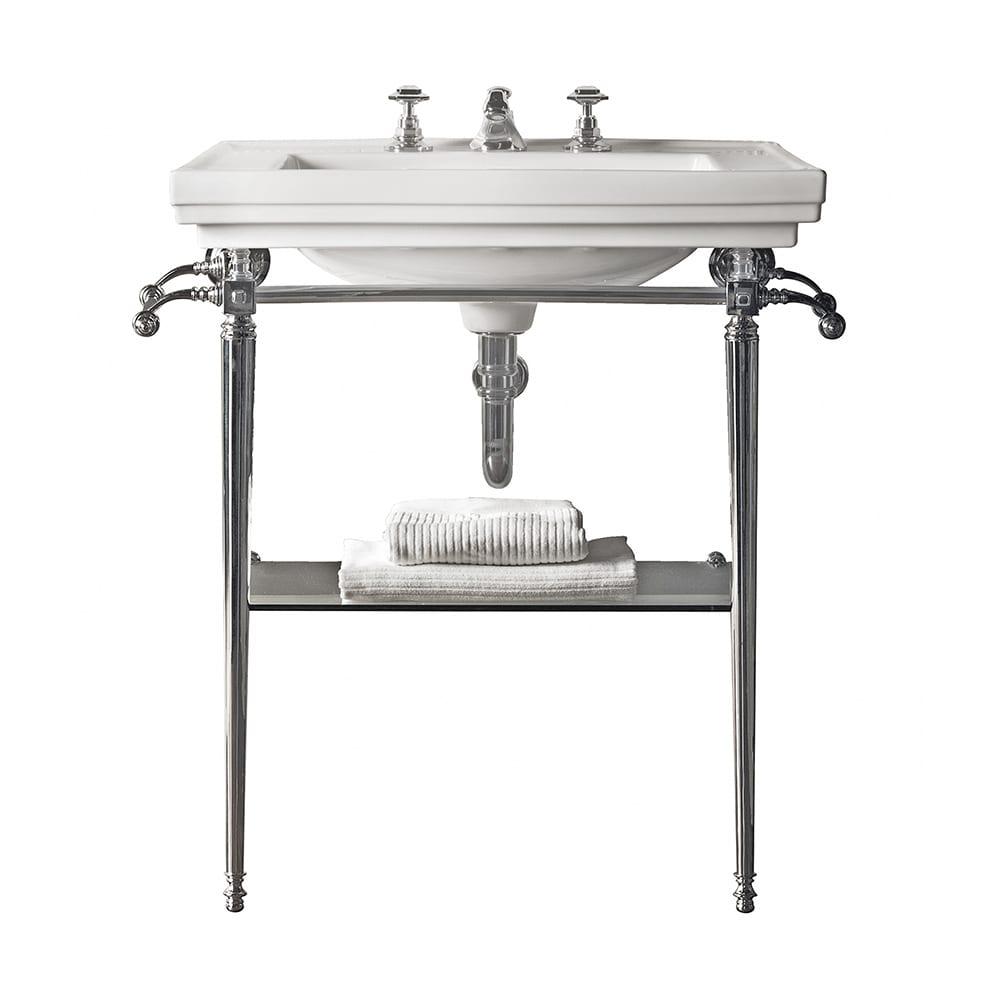 Astoria Deco Large Basin Stand chrome polish