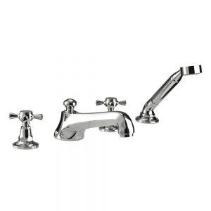 Cou 4-hole bath filler and handset kit