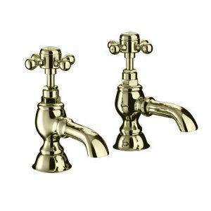 "Victorian 3/4"" bath pillar taps"