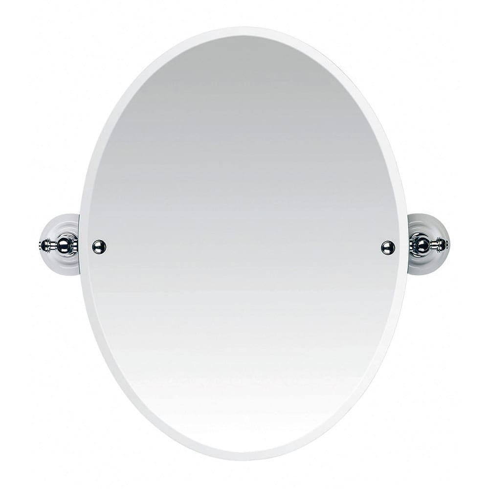 Cambridge Tilting Oval Bevelled Mirror CP