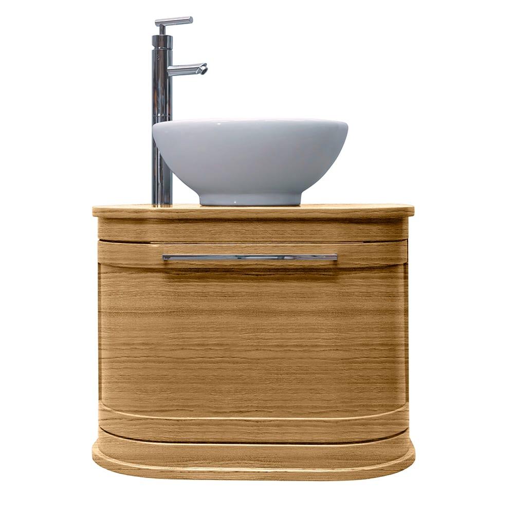 Carlyon Roseland 2 drawer wall hung vessel unit light oak