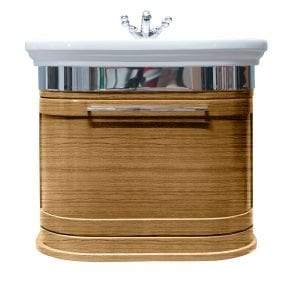 Carlyon Roseland 2 drawers wall-hung unit light oak
