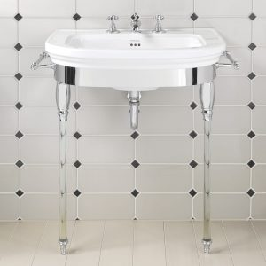 Carlyon Basin Stand with Glass Legs