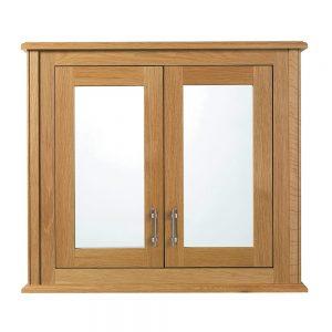 Thurlestone Mirror wall cabinet with 2 doors wood/mirror glass doors