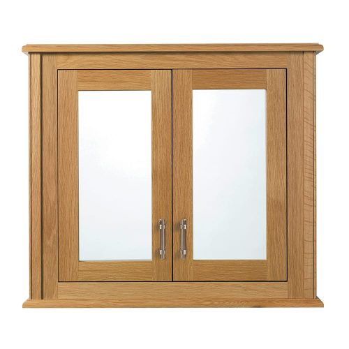 Thurlestone Mirror wall cabinet with 2 doors wood/mirror glass doors