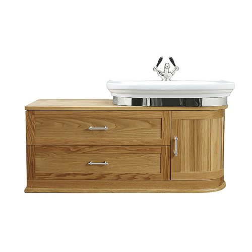 Carlyon Thurlestone Wall Hung Offset Vanity Unit R/H