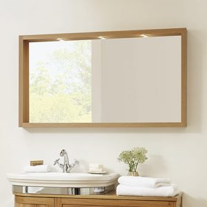 Large Box Mirror with Lights