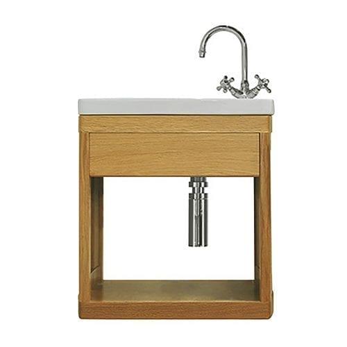 Carlyon Thurlestone open cloak vanity unit Oak