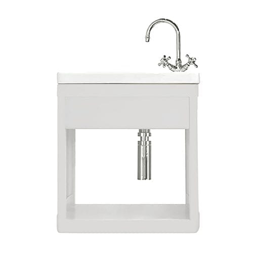 Carlyon Thurlestone open cloak vanity unit White