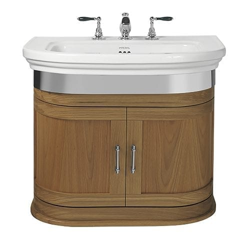 Carlyon Thurlestone 2 Door Wall Hung Vanity Unit Natural Oak