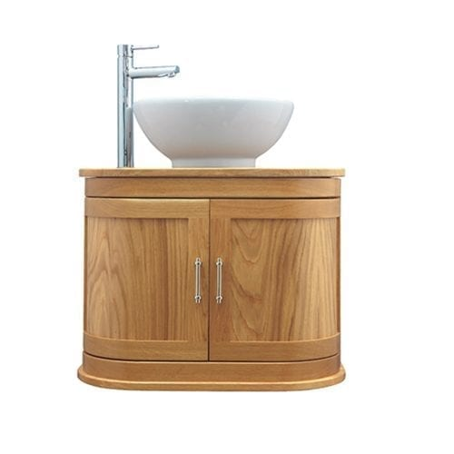 Carlyon Thurlestone wall hung vessel unit Oak