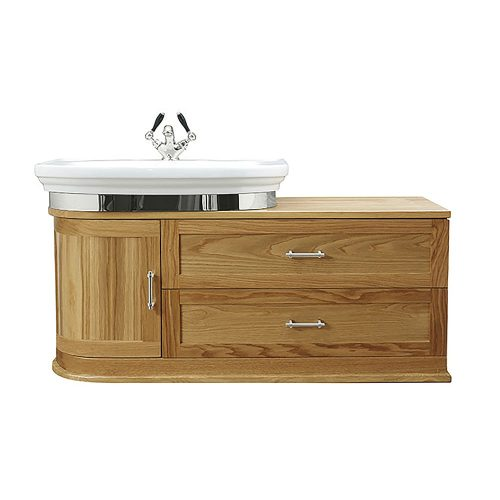 Carlyon Thurlestone Wall Hung Offset Vanity Unit L/H
