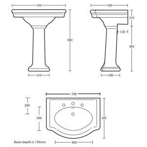 Firenze Pedestal