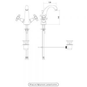 Cisne Basin mono mixer kit