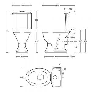 Drift Close Coupled Cistern & Fittings