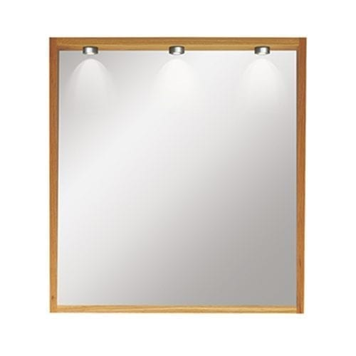 Etoile Canterbury Large Mirror with Lights oak