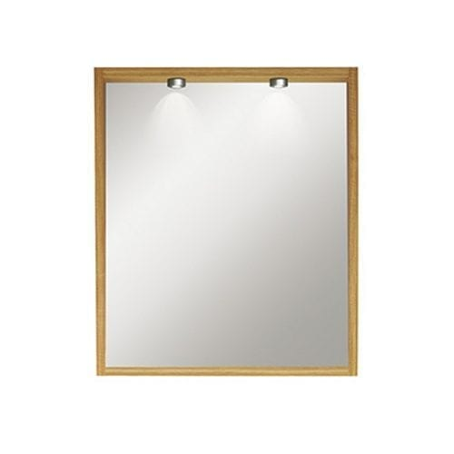 Etoile Canterbury Medium Mirror with Lights oak