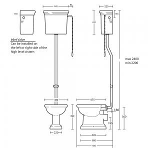 Etoile High Level Cistern & Fittings