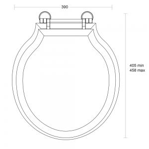 Etoile solid wood toilet seat with standard hinge