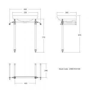 Firenze cloak basin stand tech specs
