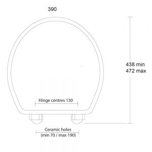 Oval painted toilet seat with soft-close hinge