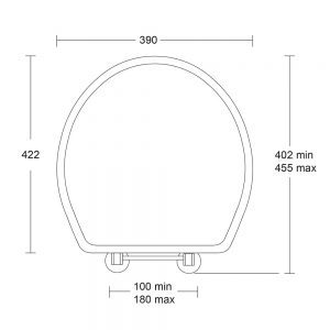 Oval solid wood toilet seat with standard hinge