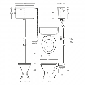 Oxford High Level Cistern & Fittings