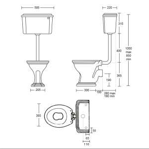 Oxford Low Level Cistern & Fittings