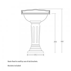Oxford square fluted pedestal
