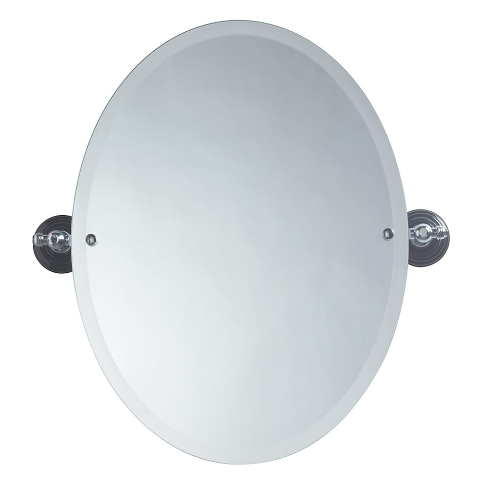 Oxford oval bevelled mirror chrome