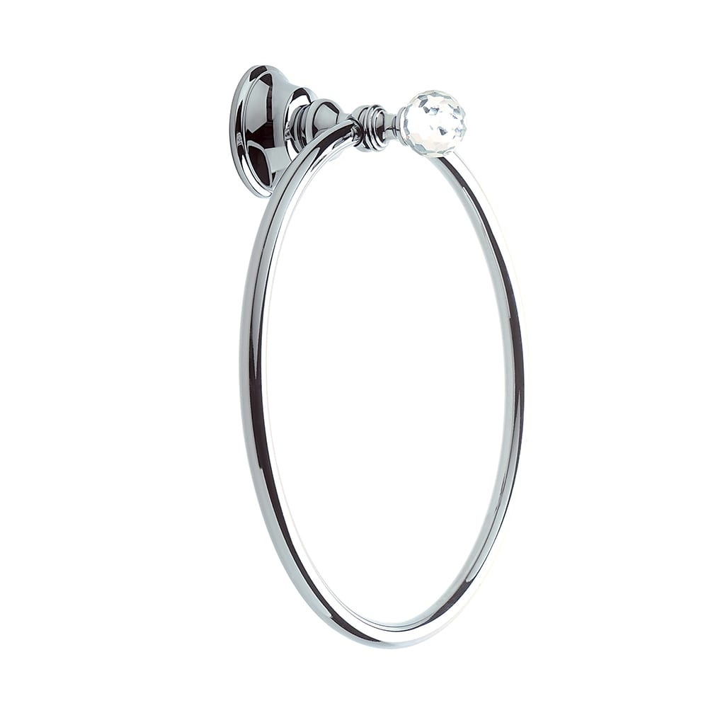 Pimlico Wall Mounted Towel Ring Chrome