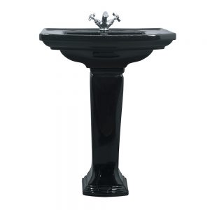 Radcliffe large basin and pedestal black