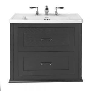 Radcliffe Thurlestone wall hung 2 drawer vanity unit Wenge without feet