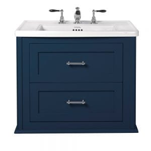 Radcliffe Thurlestone wall hung 2 drawer vanity unit moseley blue