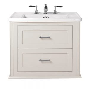 Radcliffe Thurlestone wall hung 2 drawer vanity unit rosedale white