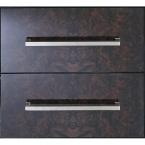 Radcliffe Attica Wall Hung Vanity Unit with Walnut Glass Drawer Fronts