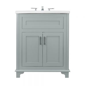 Thurlestone 2 door vanity unit hand painted finish