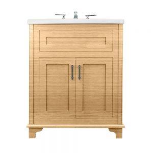 Thurlestone 2 door vanity unit solid wood