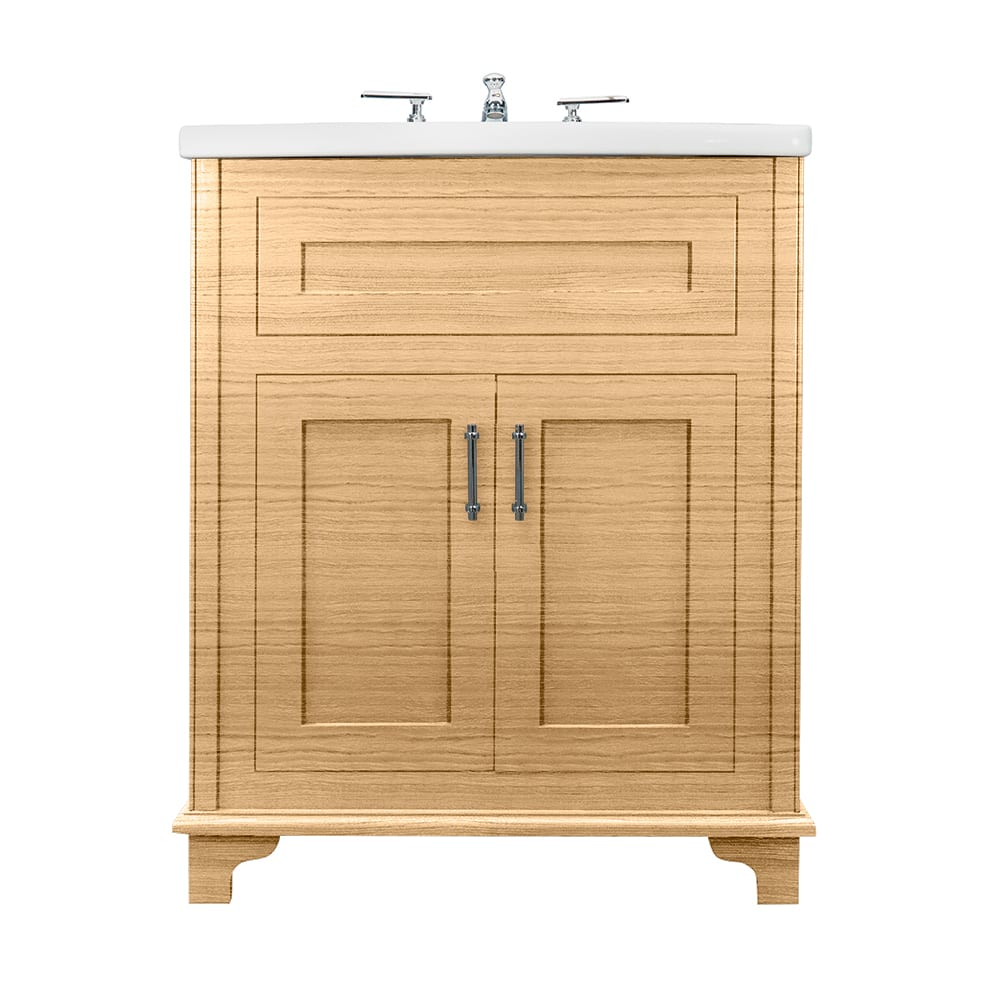 Thurlestone 2 door vanity unit solid wood