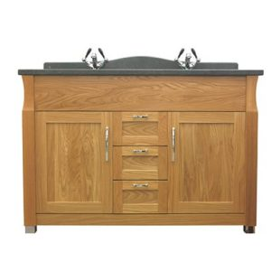 Westbury Twin 2 Door and 3 Drawer Unit with Internal Glass Shelves