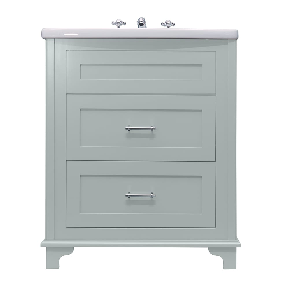 Thurlestone 2 drawer vanity unit hand painted finishes