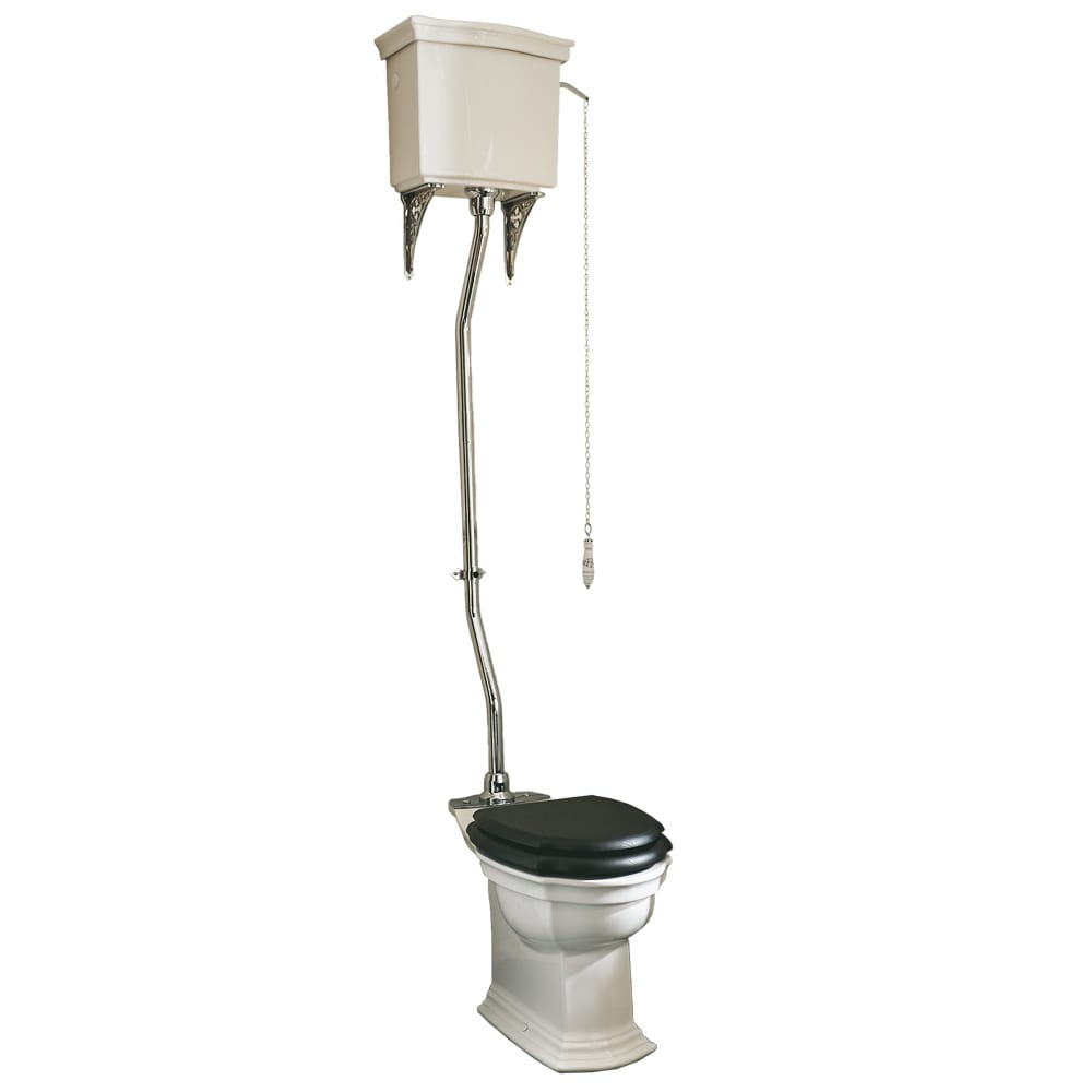 Westminster High Level Cistern & Fittings Chrome with Brass Conversion Plate