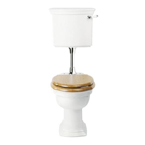 Westminster Low Level Cistern & Fittings with Brass Chrome Conversion Plate