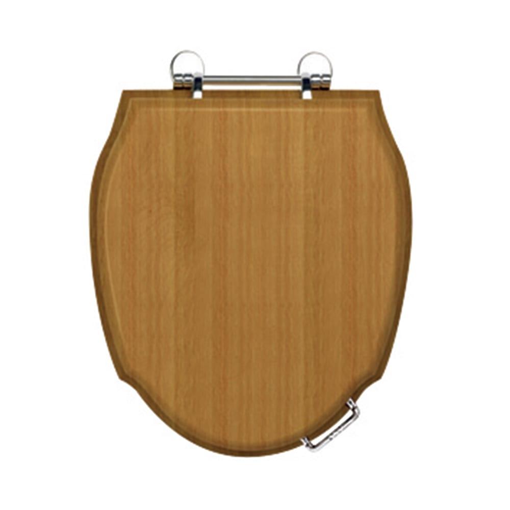 Westminster Solid Wood Toilet Seat with Standard Hinge oak