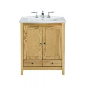 Westminster Victoria 2 Door Vanity Unit oak