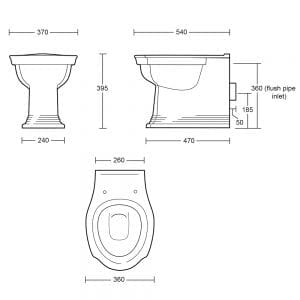 Westminster back to wall pan tech spec