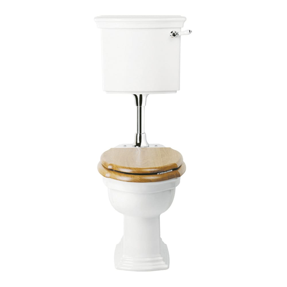 Westminster pan & low level cistern with ceramic or brass plate