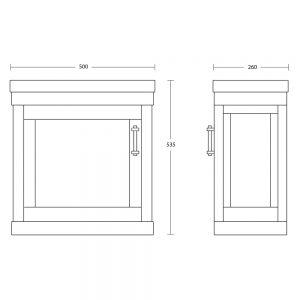 Carlyon Thurlestone 1 Door Cloak Vanity Unit L/H