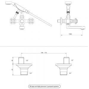 Niveau Bath shower mixer kit